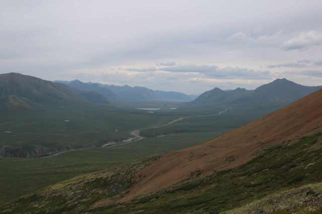 Dempster Highway, near North Fork Pass. The road to discovery (photo: T.A. Wheeler).